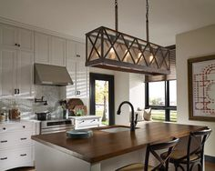 Buy the Feiss Dark Weathered Oak / Oil Rubbed Bronze Direct. Shop for the Feiss Dark Weathered Oak / Oil Rubbed Bronze Lumiere 4 Light Island Chandelier and save. Kitchen Decor, Kitchen Inspirations, Home Decor Kitchen, Kitchen Lighting Fixtures, Home, Kitchen Design, Farmhouse Kitchen Island, Kitchen Remodel, Wooden Kitchen