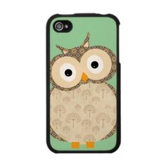 Cute Baby Owl Iphone 4 Skins, I wish they made these for every other phone.