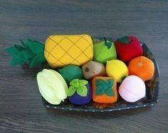comida de feltro - fruta