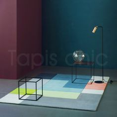 Tapis design Tetris Lime par Linie Design 2986-15029
