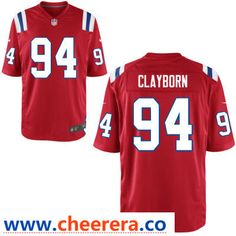 656450a6ff5 Men's New England Patriots #94 Adrian Clayborn Red Alternate Stitched NFL Nike  Game Jersey Jersey
