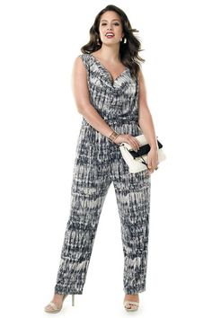 One-Piece Wonders: 13 Plus-Size Jumpsuits & Rompers #refinery29  http://www.refinery29.com/plus-size-jumpsuits-rompers#slide-3