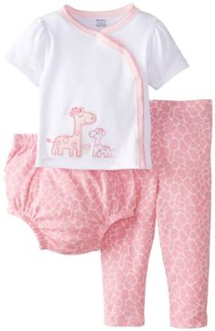 Gerber Baby-Girls Newborn 3 Piece Set Side-Snap Shirt Pant Diaper Cover-Giraffe, Pink, 0-3 Months Gerber,http://www.amazon.com/dp/B00HQ9GSFE/ref=cm_sw_r_pi_dp_cSUrtb1P577WA5ZE
