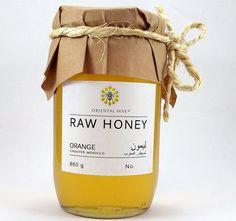 Orange RAW Honey 860g from Chouiter Marrakech by orientalhive