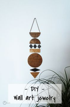 How to make a wall art jewelry - Ohoh blog DIY & Craft