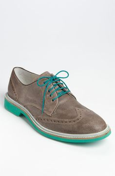 Hm... Turquoise soles. Cole Haan Air Franklin Wingtip.