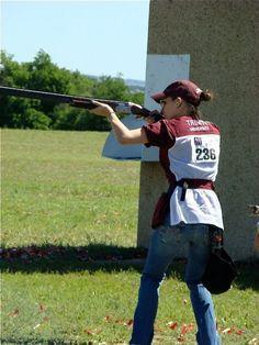 Skeet Shooting. Yes, that's me.