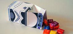 Cajas de chuches del ejército imperial para fiestas infantiles de StarWars