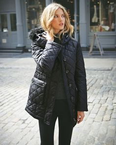 Fur Trim Quilted Parka - Pure Collection ($163.00)