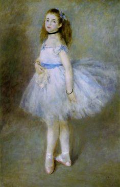 """Renoir, Pierre-Auguste  Danseuse (Dancer)   1874 (100 Kb); Oil on canvas, 56 1/8 x 37 1/8""""; National Gallery of Art, Washington D.C."""