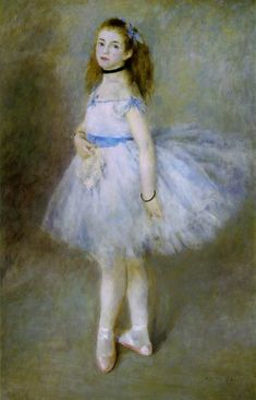 "Renoir, Pierre-Auguste  Danseuse (Dancer)   1874 (100 Kb); Oil on canvas, 56 1/8 x 37 1/8""; National Gallery of Art, Washington D.C."