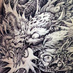 2015 Newest Tattoo Book Dragon KOI Suzaku Hannya God Buddha Tattoo Designs Books…