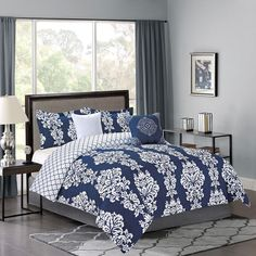 NANCY-5PC COMF-BLUE QU