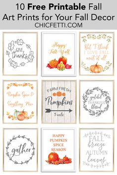 diy fall decor These free printable fall art prints are going to look great in your home! Printable wall art is a great way to update your home decor without breaking the bank. Autumn Art, Autumn Home, Autumn Leaves, Autumn Prints, Fall Inspiration, Design Poster, Happy Fall Y'all, Fall Home Decor, Fall Decor Signs