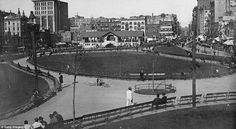 Freshly landscaped: New Yorkers enjoy the open space of the newly-planted Mulberry Bend Park in 1900