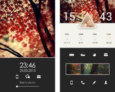 Android Home+LockScreen by Kuroi-Raven