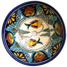 Traditional Mexican Sink-Amor De Pez - Mexican Tile Designs