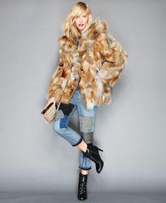 The Fur Vault Pieced Fox Fur Hooded Jacket | macys.com