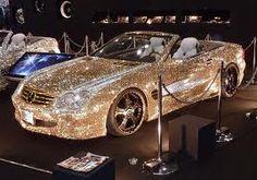 CRYSTAL BENZ SL600 GOLD Edition