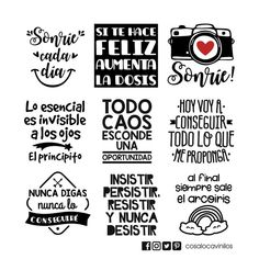 Frases para frascos N8- H70 - Cosaloca Vinilos Photo Quotes, Love Quotes, Inspirational Quotes, Diy Tumblers, Message Card, Love Messages, Album, Cute Stickers, Screen Printing