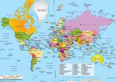 Getting back to basics: A Map that actually shows where all the countries are