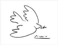 """""""La colombe de la Paix"""" de Pablo Picasso - 1949"""