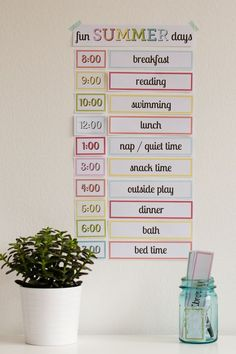 Printable: Setting up a Simple Routine with Kids Easy Summer Schedule For Kids - I love how customizable this is!Easy Summer Schedule For Kids - I love how customizable this is! Printable: Setting up a Simple Routine with Kids Easy Summer Schedul Kids Summer Schedule, Summer Activities For Kids, Summer Kids, Toddler Activities, Daily Schedule Kids, Family Schedule, School Schedule, Weekly Schedule, Teaching Activities