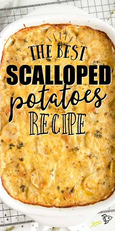 These scalloped potatoes are a double layer of sliced potatoes, creamy sauce, and cheddar cheese. The best part of this recipe is the melted cheese, which is both cooked inside the dish and baked on top! Potato Sides, Potato Side Dishes, Side Dish Recipes, Vegetable Recipes, Queso Cheddar, Cheddar Cheese, Cheesy Scalloped Potatoes Recipe, Scalloped Potatoes And Ham, Sauce Crémeuse
