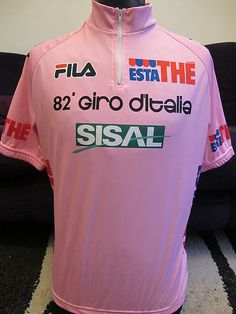 Details about GIRO D ITALIA FILA 82 ESTATHE SUPERB VINTAGE CYCLING JERSEY  Sz4. Maillot CyclismeVélos ... dba3ab151