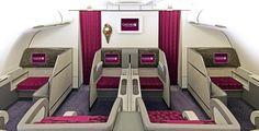 First Class Cabin onboard #QatarAirways A340-600