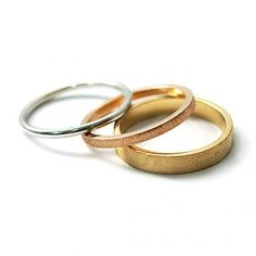 Alianza de boda con 3 oros de 18 kilates