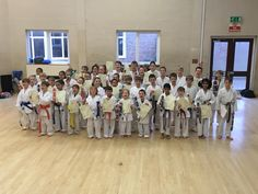 Letchworth karate club kids karate examination March 2018