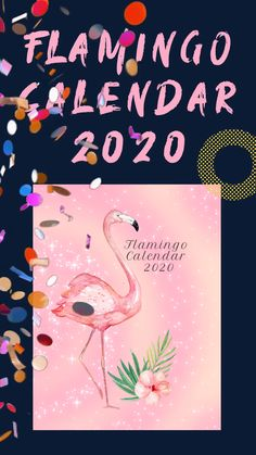 Flamingo Calendar Beautiful Planner & Notebook 2020 for a Girl or a Woman 52 Weeks, 12 Months, Gifts For Family, Gifts For Her, Cute Gifts, Unique Gifts, New Year's Crafts, Cool Gifts For Women, Handmade Notebook