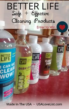 Better Life Safe and Effective Cleaning Products Better Life Bags, Green Cleaning Recipes, Regret, Better Life Quotes, Love List, Make Beauty, Life Design, Made In America, Encouragement Quotes