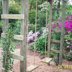 swing set design ~ grandpa could build this!