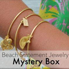 Beach Statement Jewelry Mystery Box // Nwt 3 Pcs
