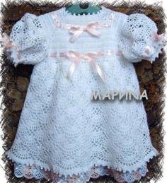 Robes blanches pour fillettes , pas à pas en images !