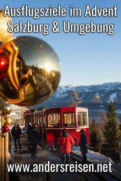 Advent Ausflugsziele in Salzburg und Umgebung per Zug findest Du in diesem Beitrag. #zugreise #salzburg #salzburgerland Salzburg, Reisen In Europa, Advent, Gate, Wanderlust, Clouds, Outdoor, Travel, Happiness