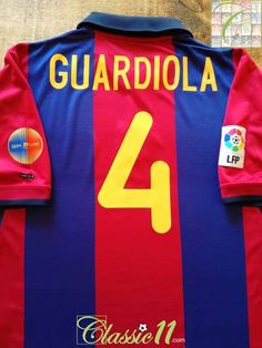 793bd39e1 2000 01 Barcelona Home La Liga Football Shirt Guardiola  4 (L)