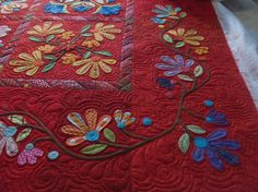 Aunt Millies Garden quilt quilted by Bethanne