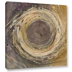 ArtWall Wooden Rings by Albena Hristova Painting Print on Wrapped Canvas Size: