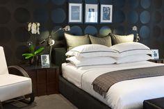Contemporary Bedroom with Darkwood Bedroom Furniture