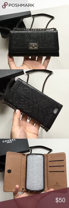 Quality iPhone 6 Wallet on Chain Case Faux Leather Brand new in box Accessories Phone Cases