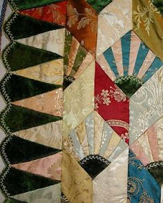 Vintage Quilt, detail, photo by Allie Aller.  This quilt is from the collection of Kaffe Fassett.