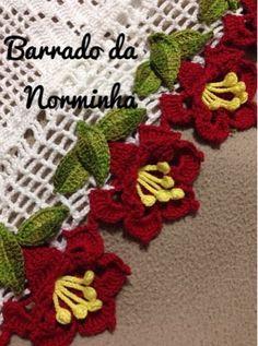 """OFICINA DO BARRADO: Croche - Barrando Flor em """"3D""""..."""