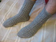 Miesten villasukat nalle langasta Knitting Socks, High Socks, Fashion, Knit Socks, Moda, Thigh High Socks, Fashion Styles, Stockings, Fashion Illustrations