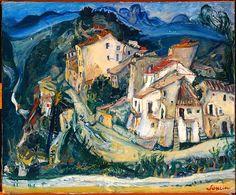 Chaim Soutine   View of Cagnes (French (born Lithuania), Smilovitchi 1893–1943 Paris)