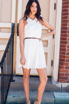 Mrs. Charming White Flare Dress