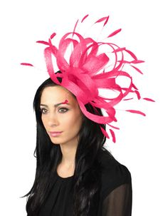 Persian Fuchsia  Fascinator Hat for Weddings, Races, and Special Events With Headband