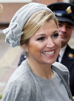 The Dutch Princesses: Maxima in a 50's style hat